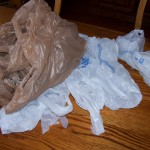 Plastic bags as recyclable materials image